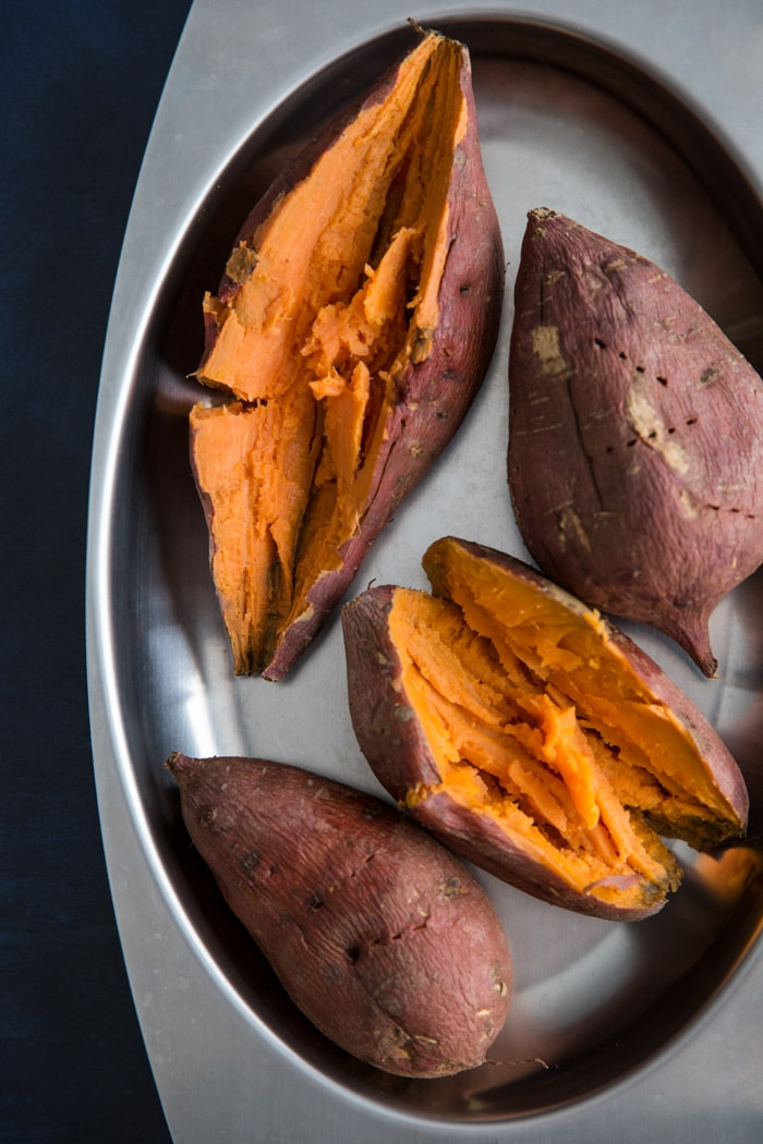 Roasted sweet potato for Sweet Potato Pie