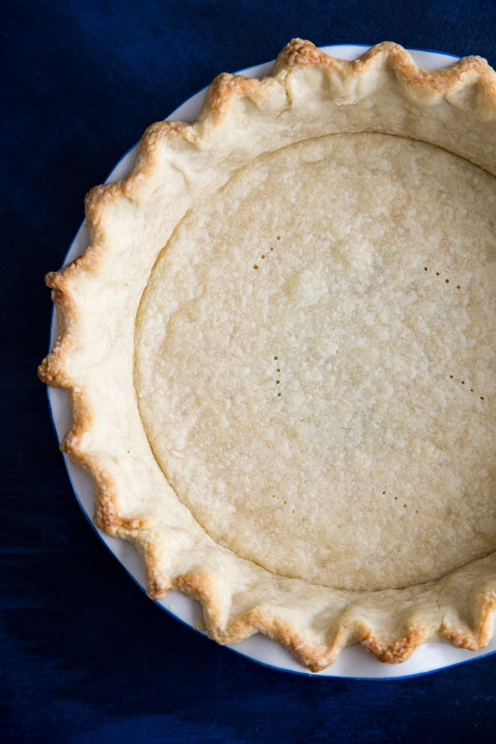 Par-baked pie crust for Sweet Potato Pie