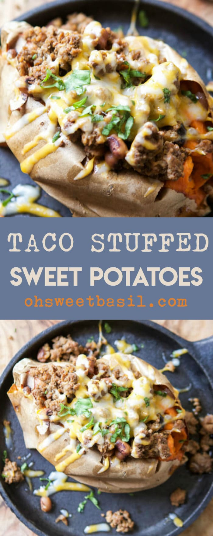 We love food, but we have to have balance and healthy dinners are essential. If you're looking for a healthy dinner idea try taco stuffed sweet potatoes.
