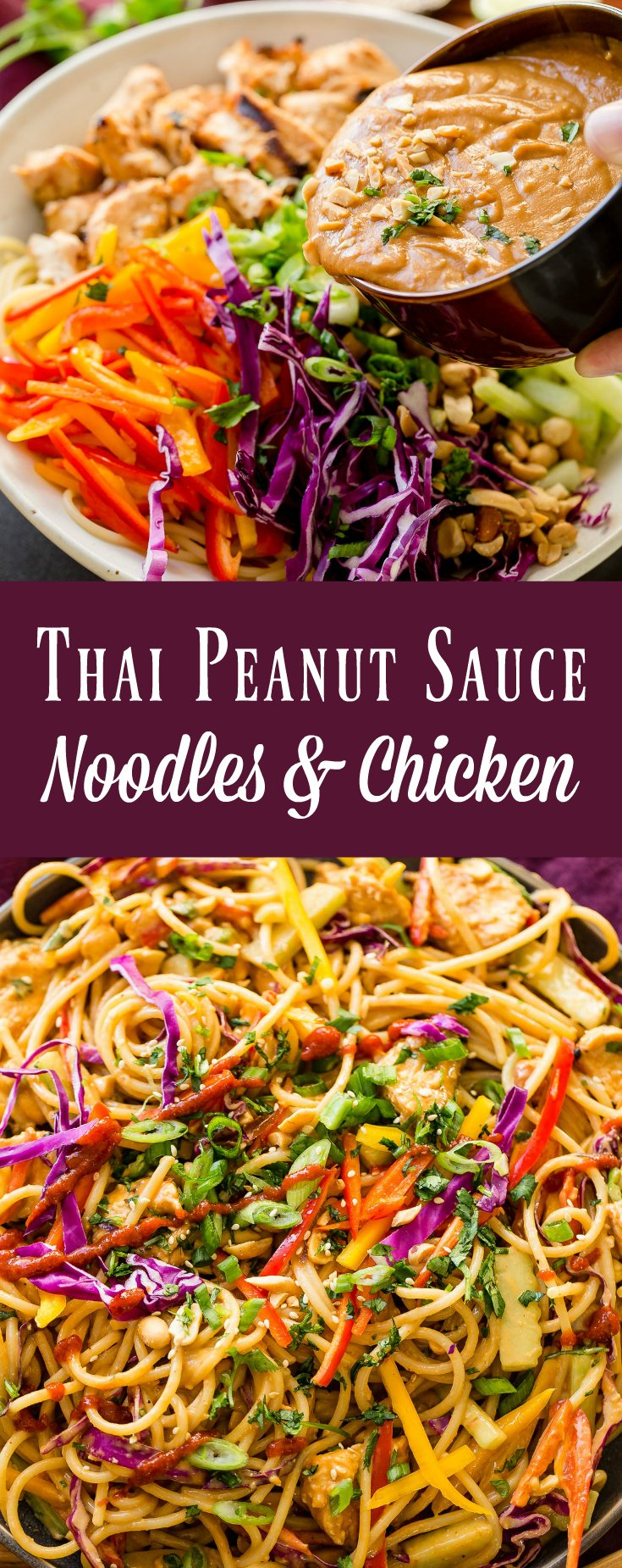 Don't head out to your local favorite Thai restaurant for Thai Peanut Sauce Noodles and Chicken. You can make the best Thai peanut sauce at home!