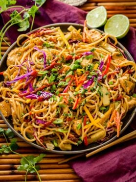 You are going to love this Thai Peanut Sauce Noodles and chicken recipe! It's even better than a local restaurant! ohsweetbasil.com