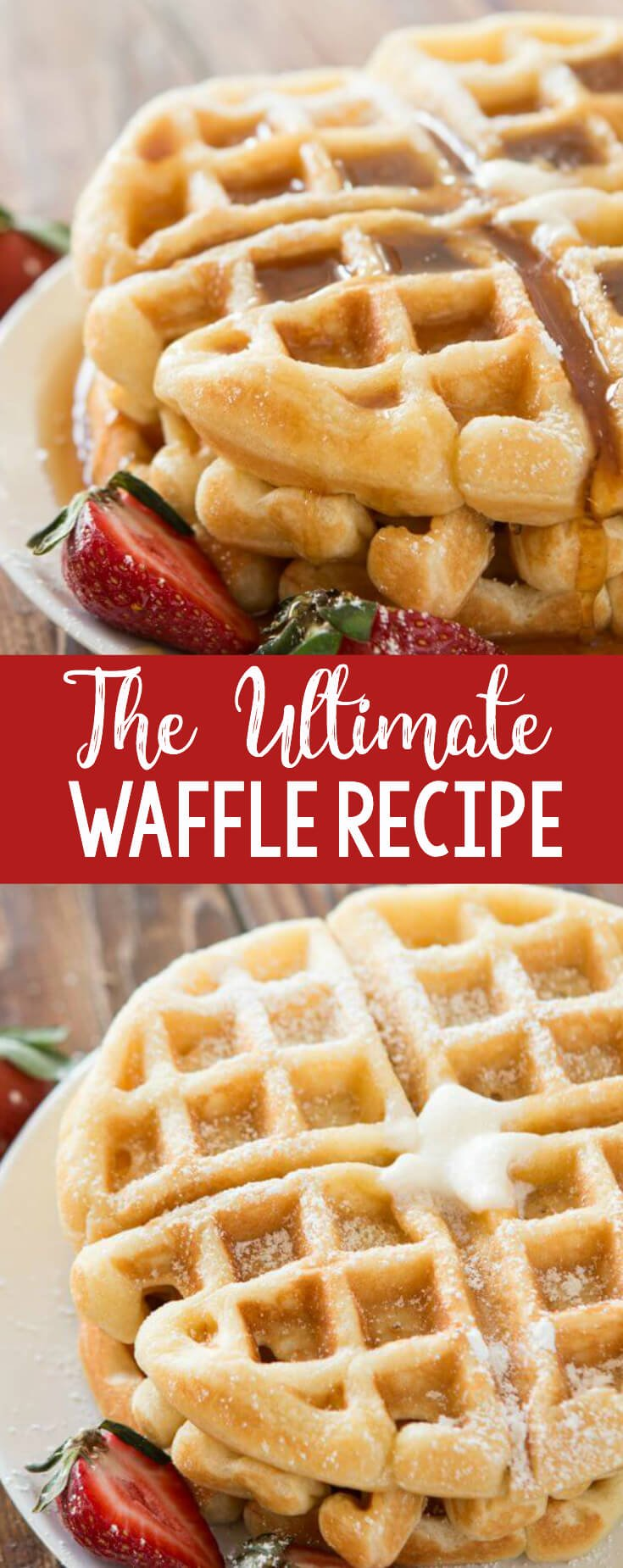 We tested over 100 waffles and this is the best buttermilk recipe out there! The ultimate waffle recipe and it's all thanks to a few simple secrets.