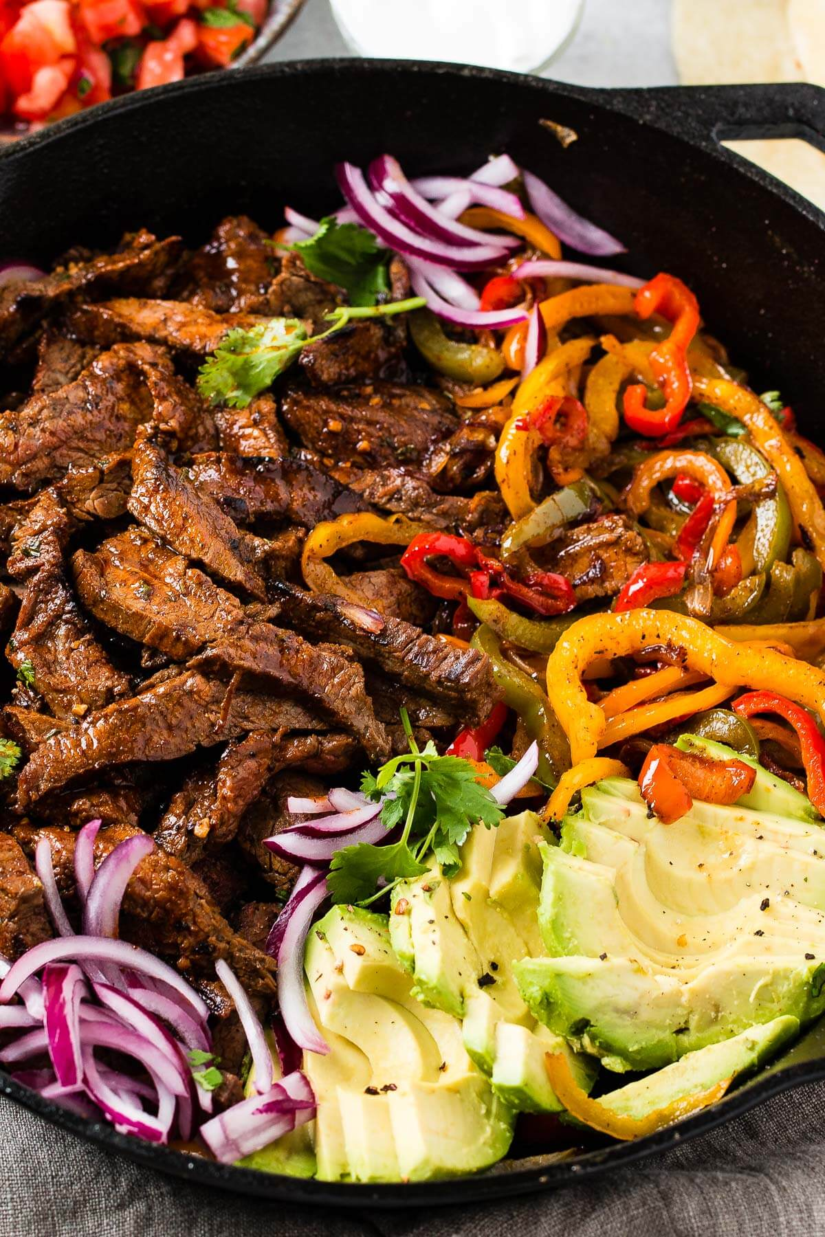 The secret to the best steak fajitas recipe is all about the marinade. You'll need three different citrus juices... ohsweetbasil.com