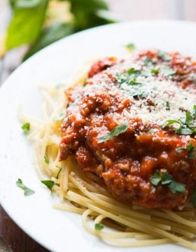 It's taken years to create a delicious Favorite homemade spaghetti sauce we want to eat over and over again and it's thanks to one secret ingredient. ohsweetbasil.com