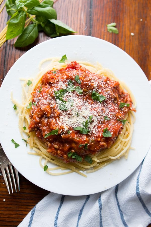 It's taken years to create a delicious Favorite homemade spaghetti sauce we want to eat over and over again and it's thanks to one secret ingredient.