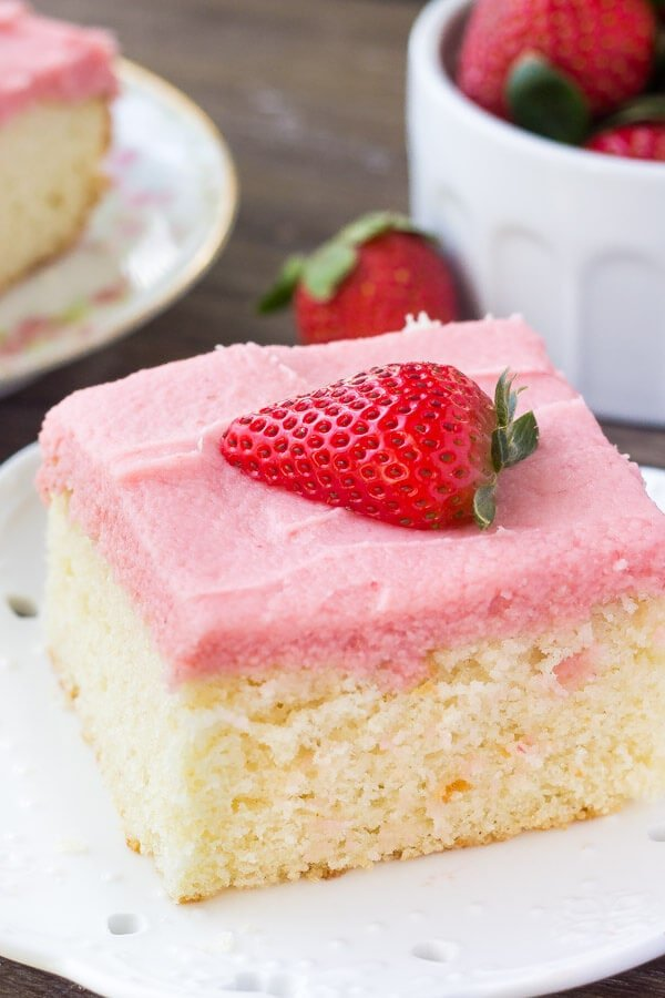 strawberry vanilla cake vanilla cake with fresh strawberry frosting oh sweet basil 7780