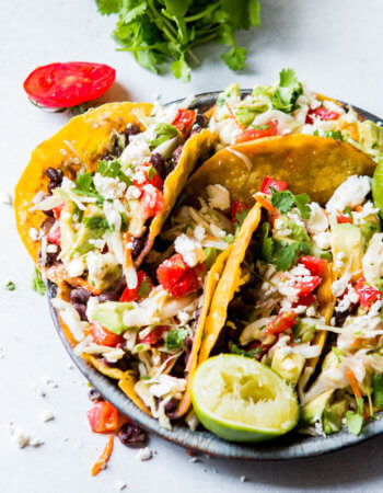 Crisp Black Bean Vegetarian Tacos sound a little boring, and I get that, but you'd be missing out if you didn't try them. The flavor is incredible!!
