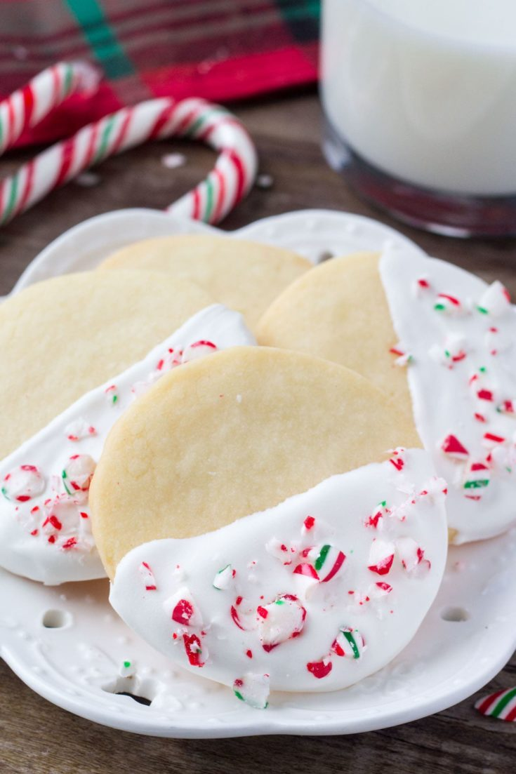 White Chocolate Peppermint Shortbread