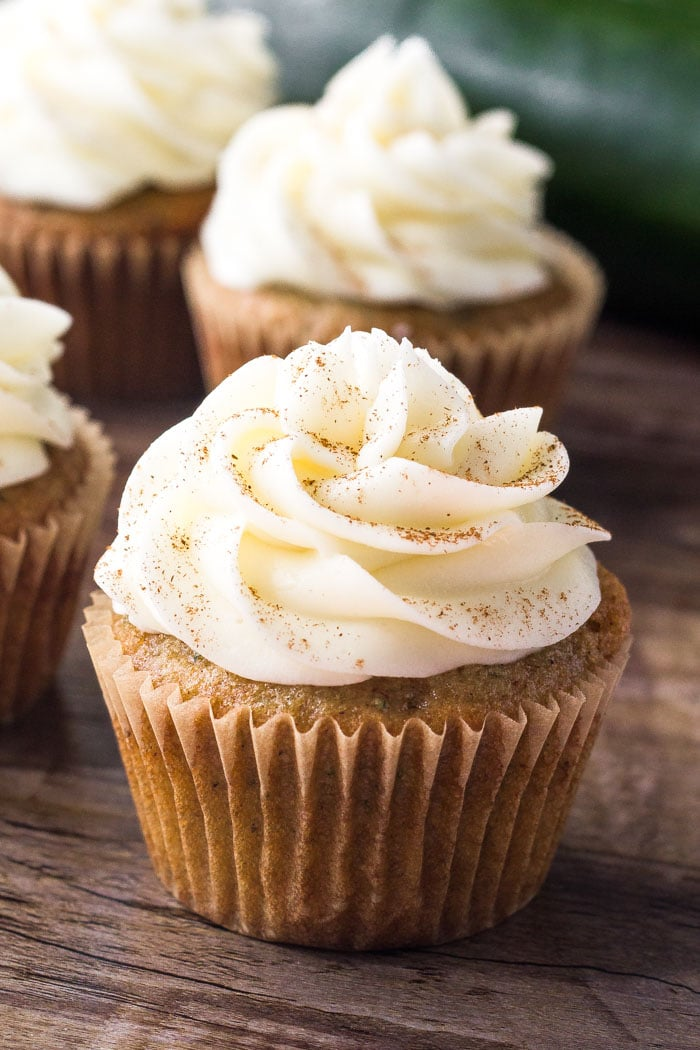 Zucchini Cupcakes wit Cream Cheese Frosting
