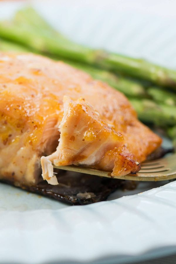 """Apricots? And salmon? Yes, my friends, you heard right. This recipe for SimpleApricot Lemon Salmon is super easy and quick to make, and it's """"mmm"""" out loud delicious!"""