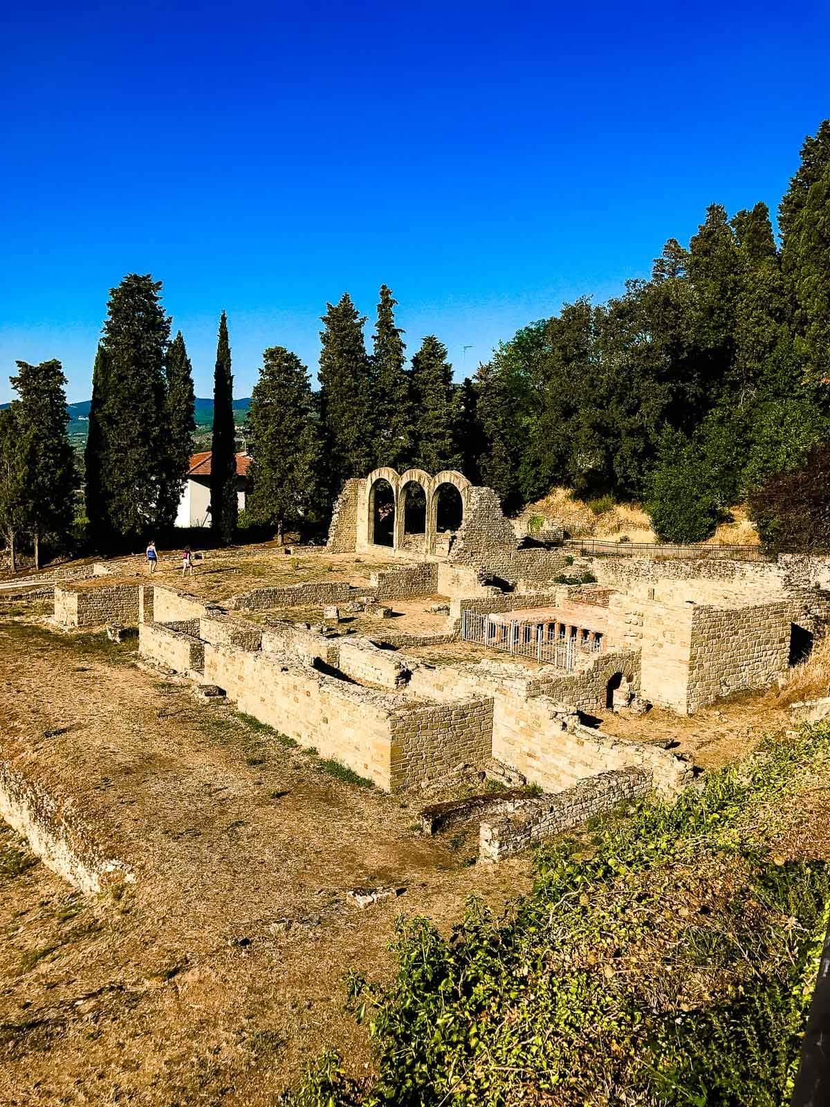 Roman baths in Fiesole Italy ohsweetbasil.com