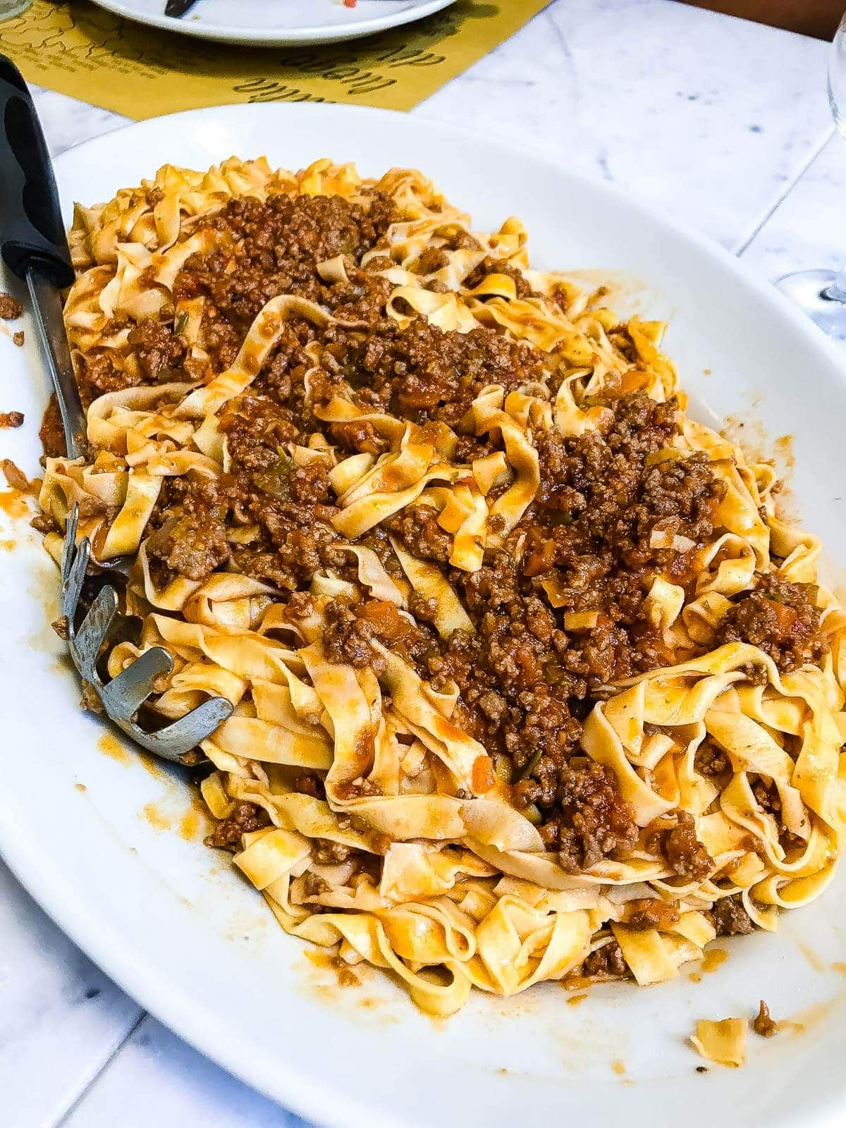 Authentic Bolognese pasta in Florence, Italy ohsweetbasil.com