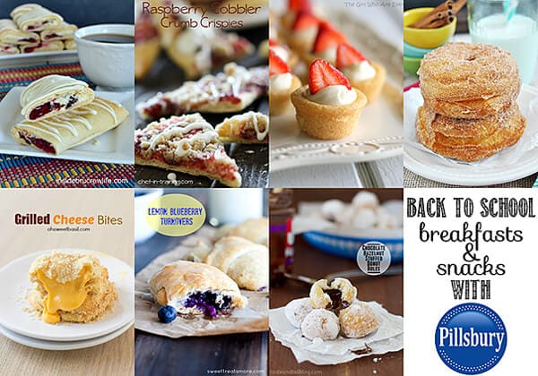Back to School Breakfasts and Snacks with Pillsbury
