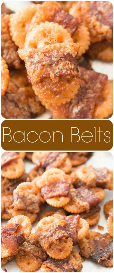 Bacon wrapped crackers or as we call them, bacon belts are perfect for all year round. I mean, it's bacon for heaven's sake. ohsweetbasil.com