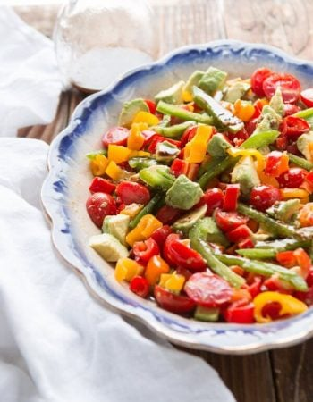 One of our favorite summer sides, balsamic tomato avocado salad ohsweetbasil.com