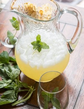 I'm usually a fan of ice cold water, but this basil mint lemonade is the most refreshing drink I've ever had. Forget all other summer drinksand make this.