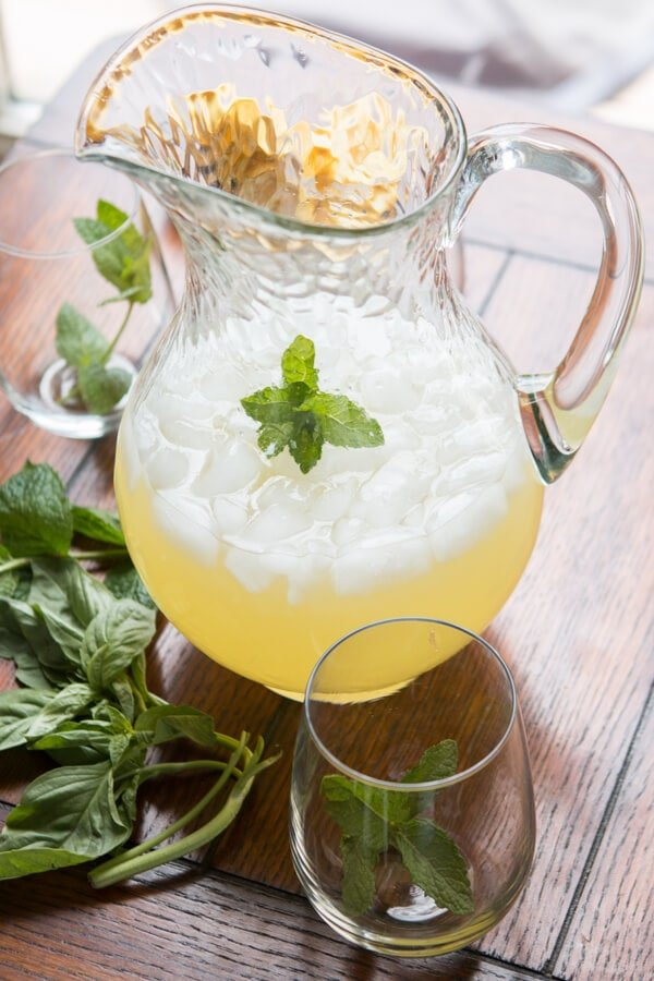 I'm usually a fan of ice cold water, but this basil mint lemonade is the most refreshing drink I've ever had. Forget all other summer drinks and make this.