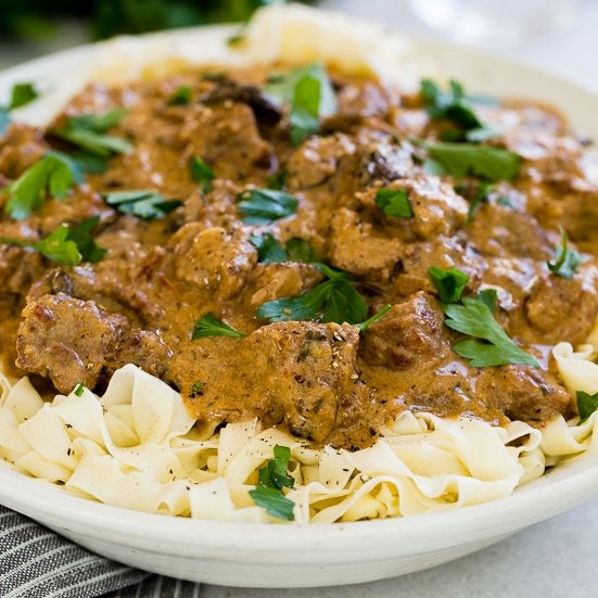 The BEST recipe for Instant Pot Beef Stroganoff, everything you need to know about making beef stroganoff in a slow cooker or instant pot.