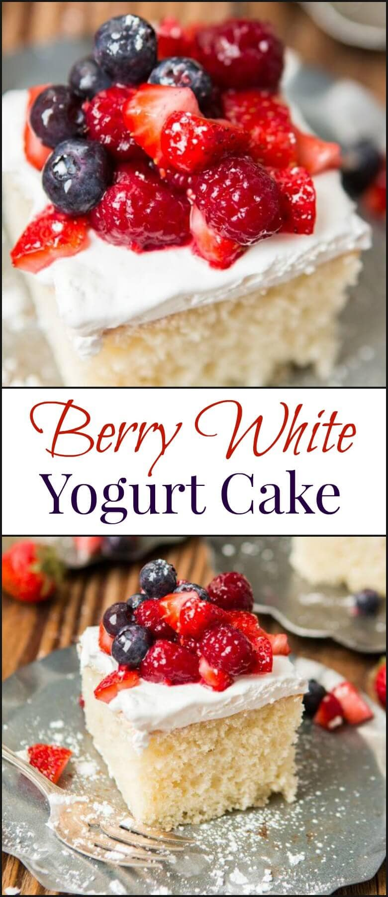 We are falling in love with snack cakes. They are so easy! Our berry white yogurt cake is so moist and easily one of our favorite summer desserts. ohsweetbasil.com