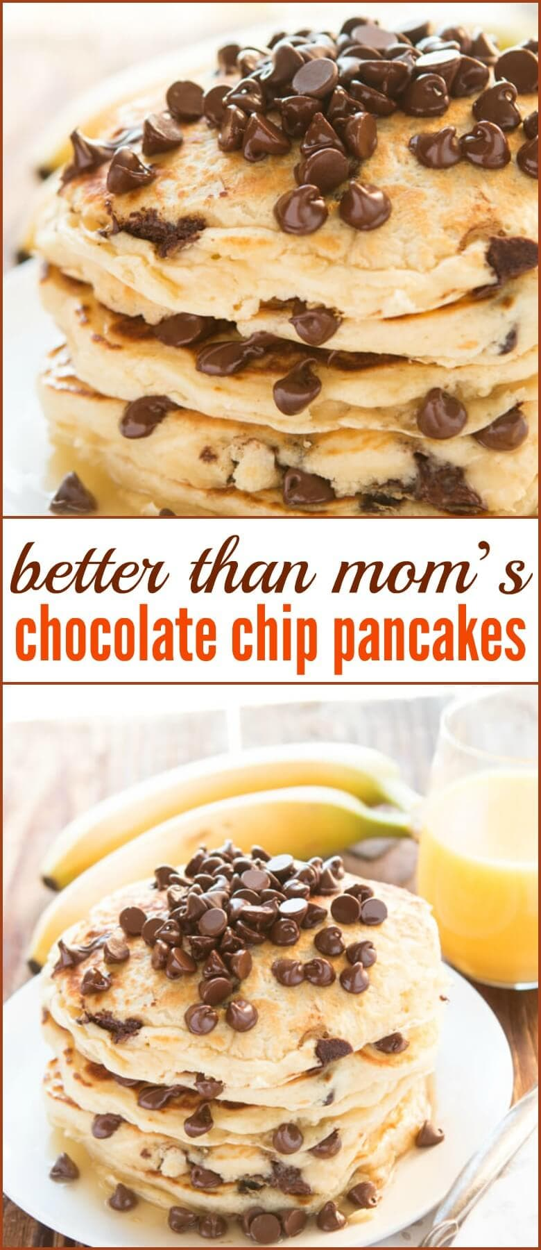 Better Than Mom's Chocolate Chip Pancakes