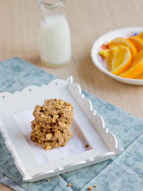 Peanut Butter Apple Breakfast Cookies