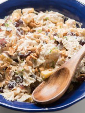 Bowtie Chicken Pasta Salad ohsweetbasil.com