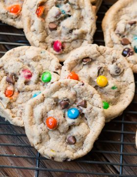 Whether you need a boyfriend or already have one these boyfriend cookies are life changing and with m&m's, chocolate, and more chocolate you can see why. ohsweetbasil.com