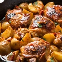 The best dinner I've ever made, braised dijon chicken and potatoes ohsweetbasil.com