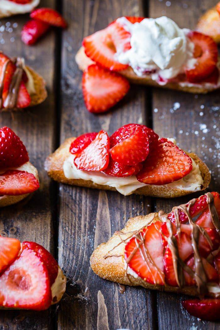 Brown Sugar Strawberry Crostinis Oh Sweet Basil