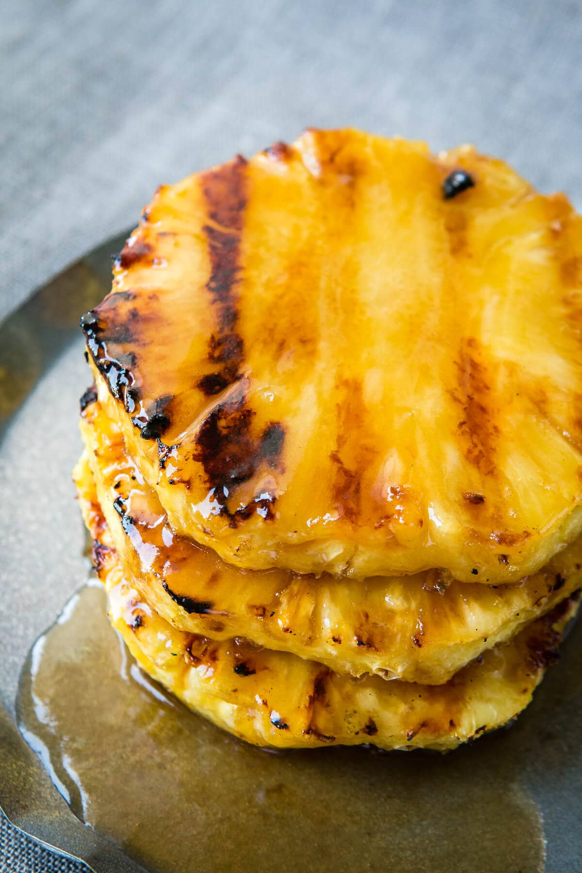 Leave the core in your pineapple to make for easier grilling on the bbq! ohsweetbasil.com