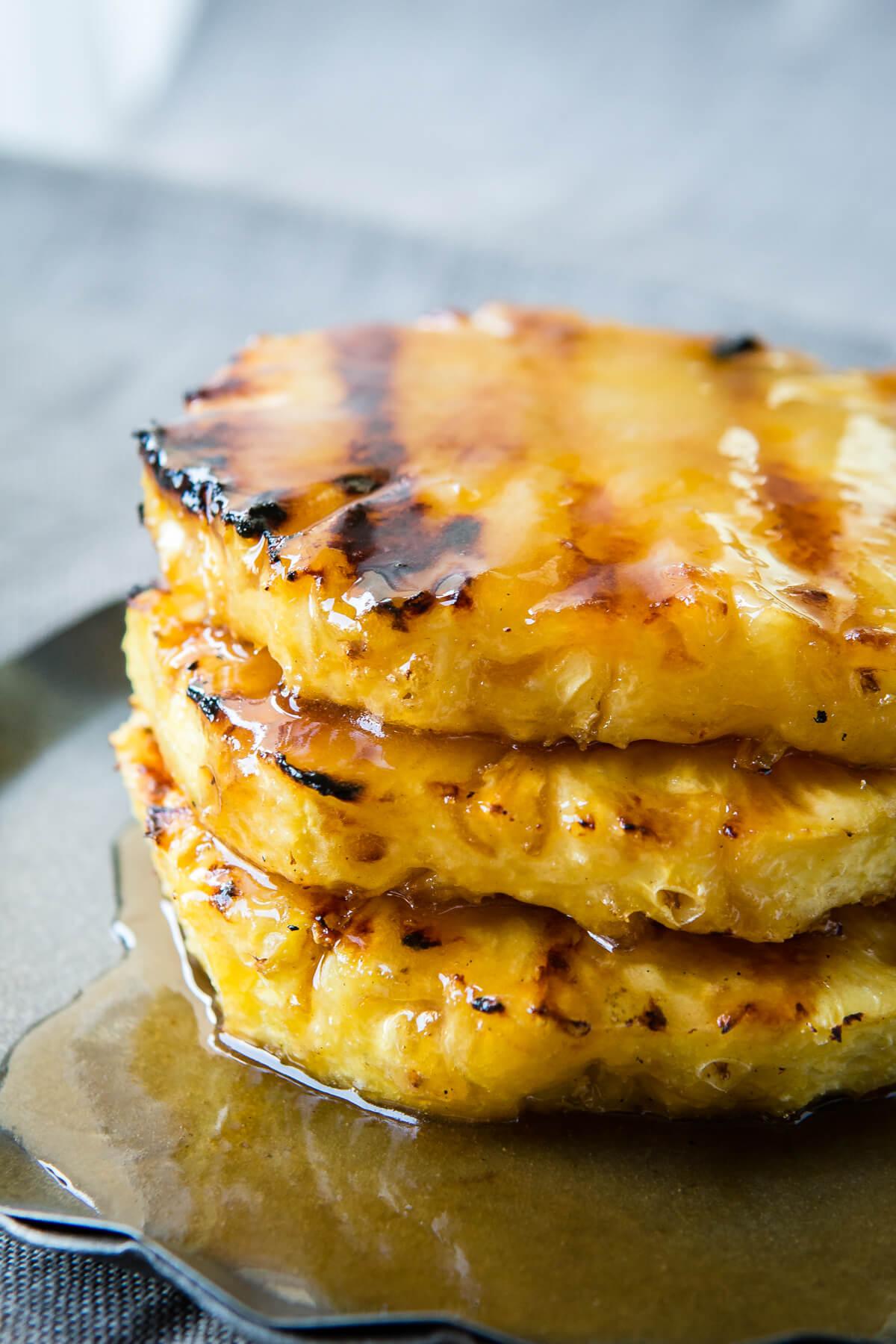 images Healthy Dessert Recipe: Grilled Pineapple Sundaes