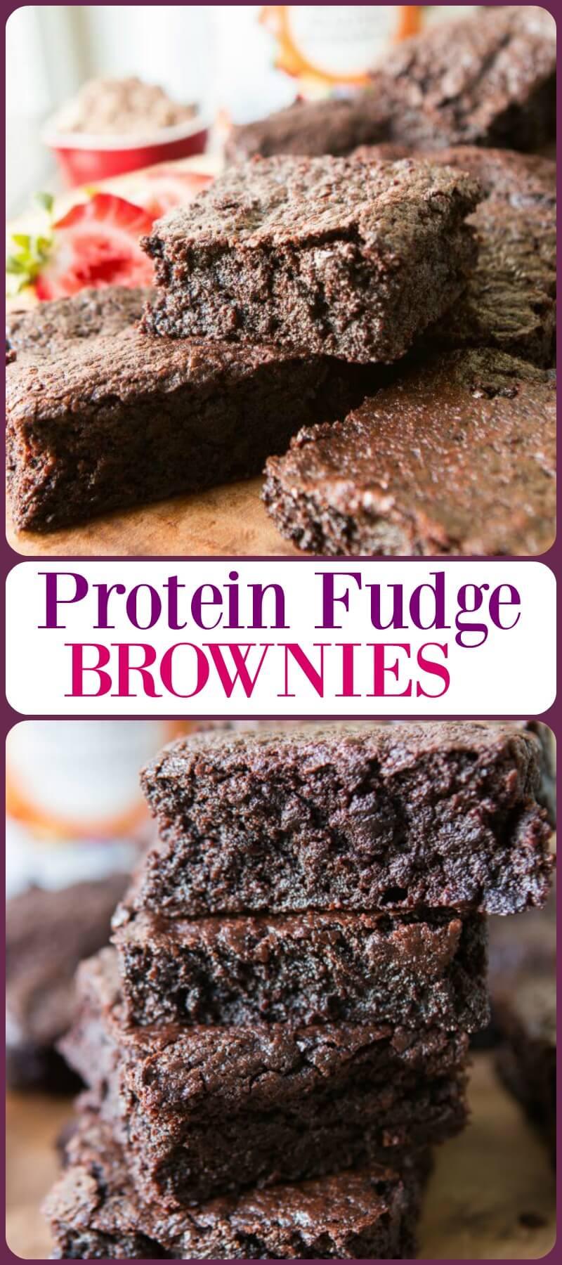 Brownies de Fudge de Proteína? Proteína em pó, óleo de coco, e menos farinha podem fazer brownies mais saudáveis e deliciosos com mais nutrição! ohsweetbasil.com