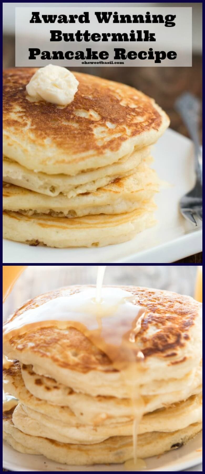 The absolute best recipe (after testing hundreds) for buttermilk pancakes. In fact, these are melt in your mouth buttermilk pancakes!