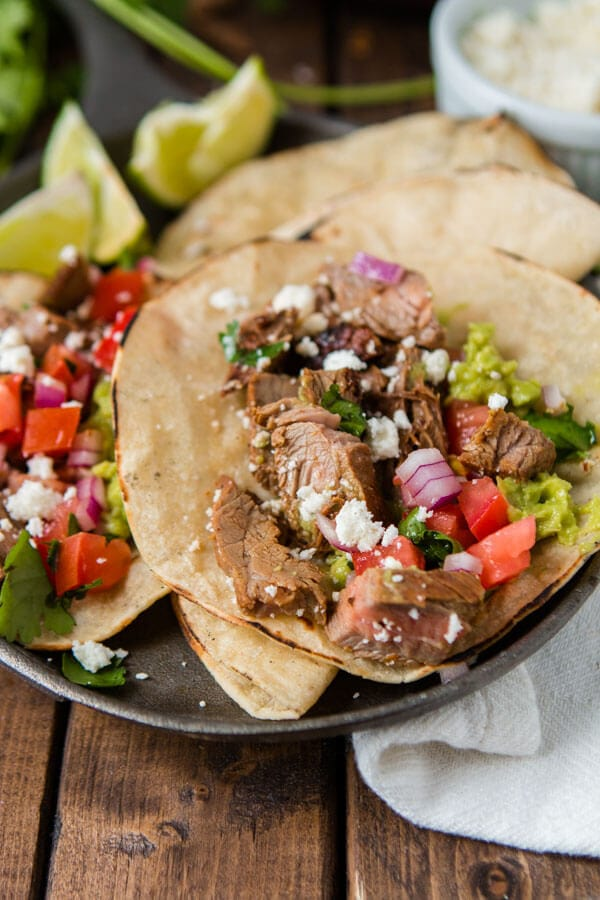 Oh how we love a good carne asada taco! The secret to making good carne asada starts before the meat ever hits the grill! ohsweetbasil.com