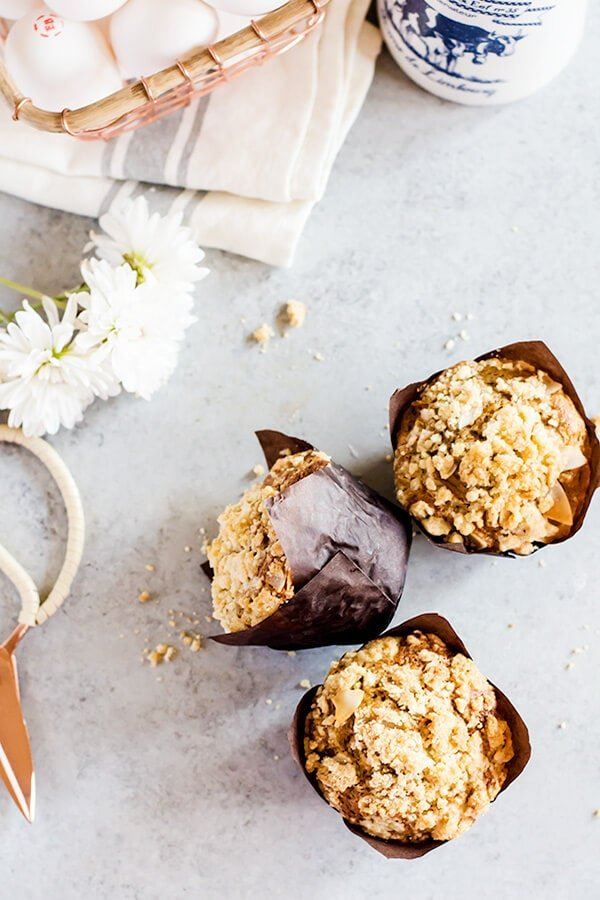These carrot cake muffins with crumb topping are irresistibly soft and fluffy, you won't want another carrot cake muffin recipe after you've tried these!