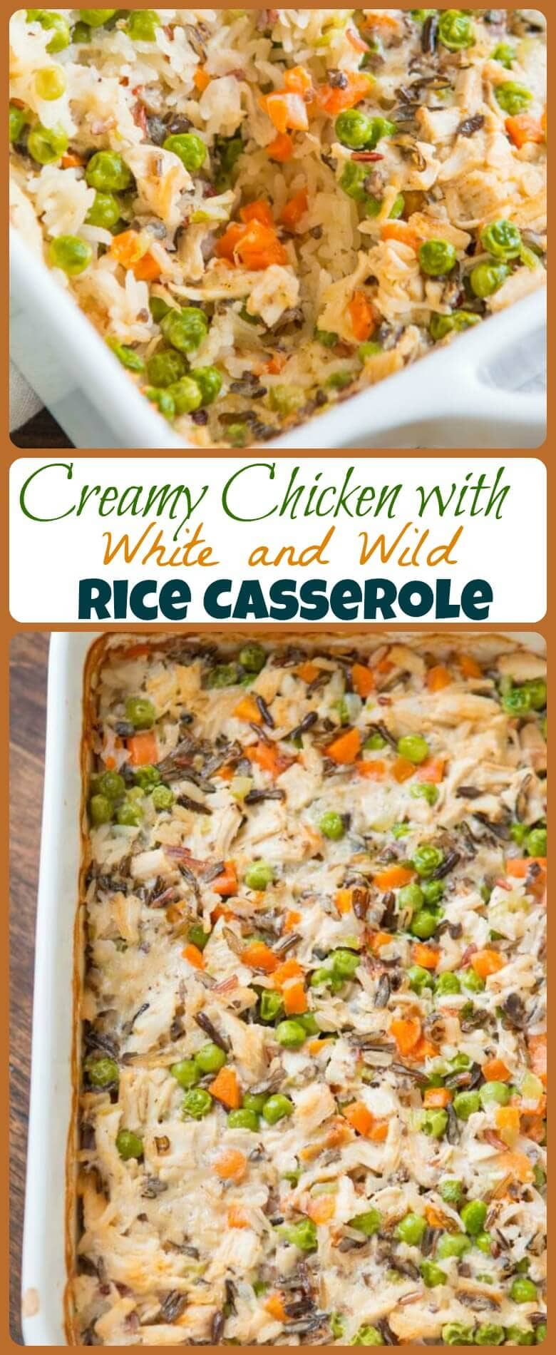 Could the title of this post be any longer? Copycat Milton's creamy chicken with white and wild rice casserole is an easy, freezer friendly meal! ohsweetbasil.com