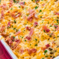 Cheesy Chicken Bacon Ranch Casserole [+ Video]