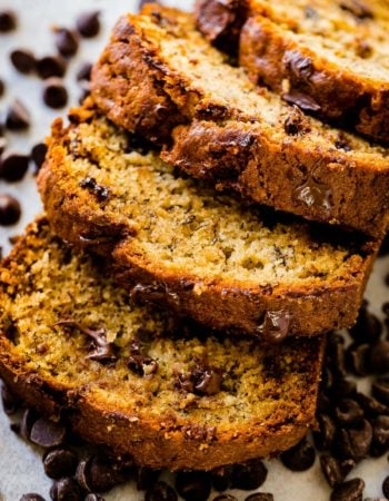 Biscoff cookies are so good, but a whole spread made out of them takes things to a whole new level!! Biscoff banana bread is soft, sweet, deliciousness and one of the most moist banana bread recipes ever!!! ohsweetbasil.com