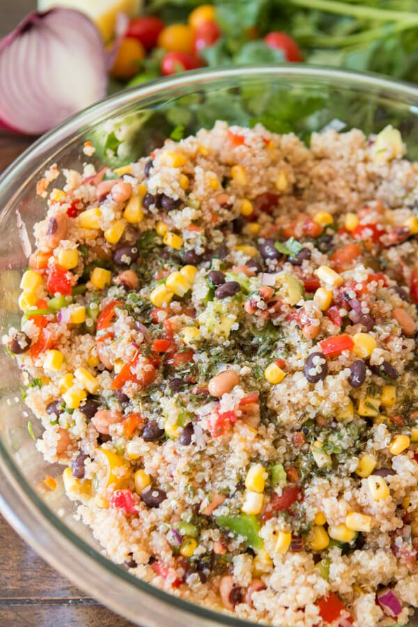 It's some of our favorites in a whole new way. Cowboy caviar quinoa and honey mustard bacon brats are waiting to be on your dinner table! ohsweetbasil.com