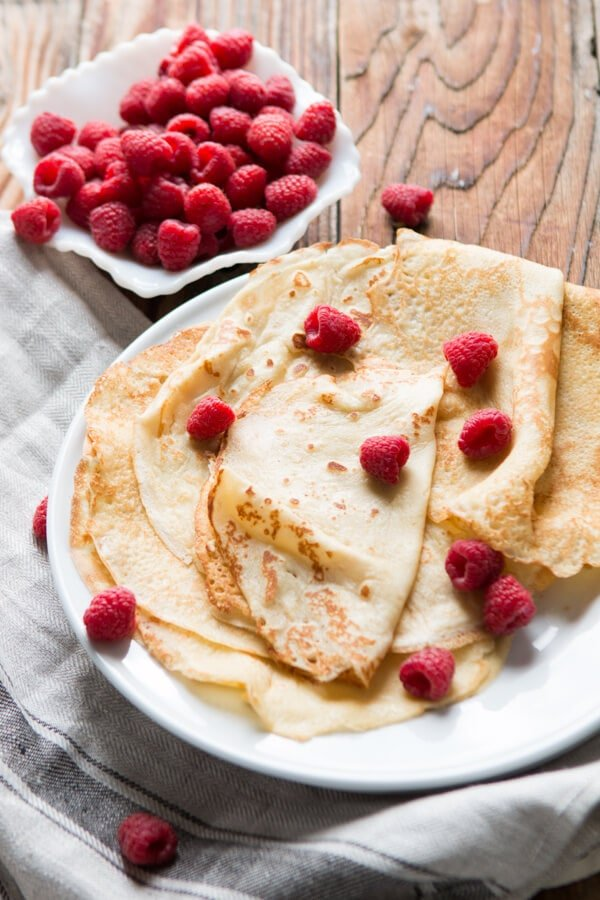 Our family favorite crepe recipe ohsweetbasil.com Golden Crepes