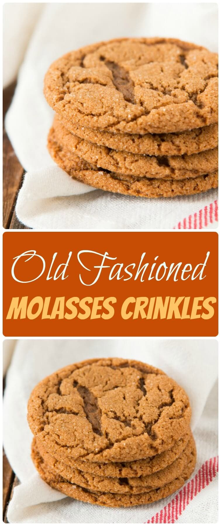 Old Fashioned Molasses Crinkles are one of the chewiest, yummiest cookies to make for the holidays, you will absolutely love them! ohsweetbasil.com