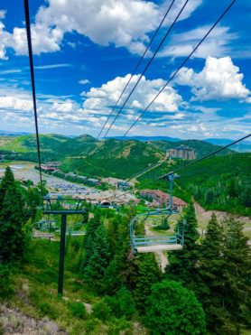 Deer Valley Summer Ski Lift Ride- Silver Lake Ski Lift