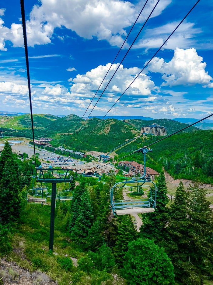 Deer Valley Summer Ski Lift Ride- Silver Lake Ski Lift