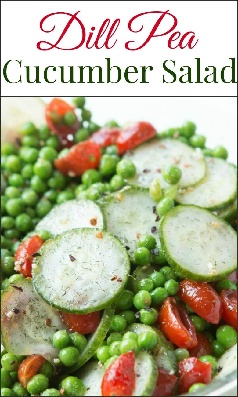 The freshest spring side, dill pea and cucumber salad ohsweetbasil.com vegetarian, dairy-free, gluten-free