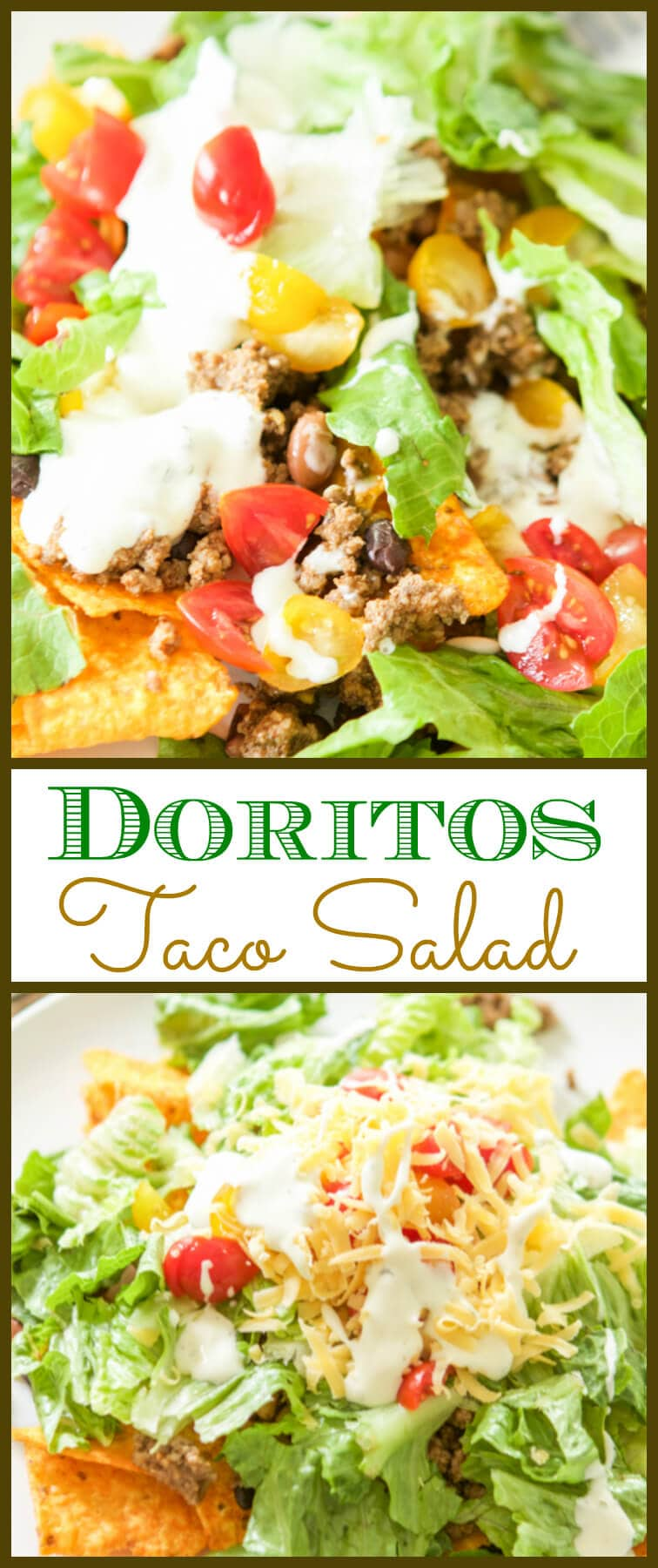 This is not as crazy as it seems. Doritos taco salad is not your typical #tacotuesday meal as there are chips other than corn involved, but just trust me.