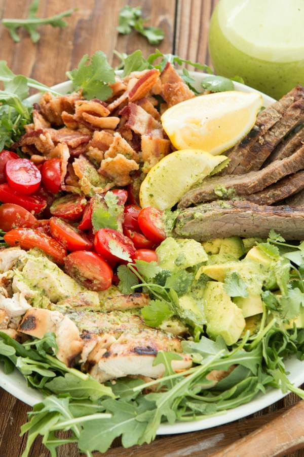 This salad is our family favorite and guests beg us to make it when they visit. It seems so simple but double the meat hold the bread blt salad is amazing!