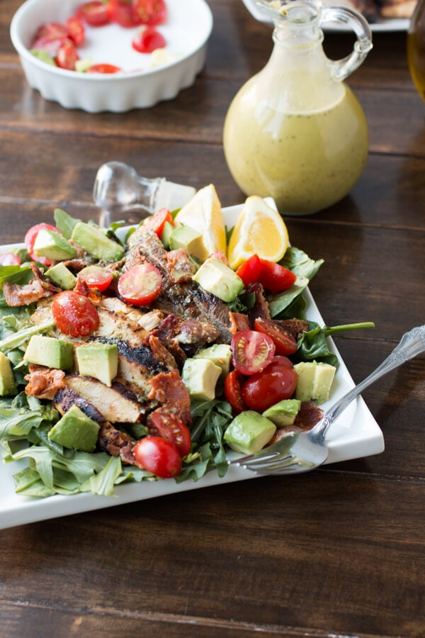 It's pretty much the best dinner you'll ever have. All the protein for the guys and the light salad for the ladies with this double the meat hold the bread blt salad! ohsweetbasil.com It's that time of year again. In case your family is like ours and you want an extra special day we have a Father's Day Recipes Roundup to help!
