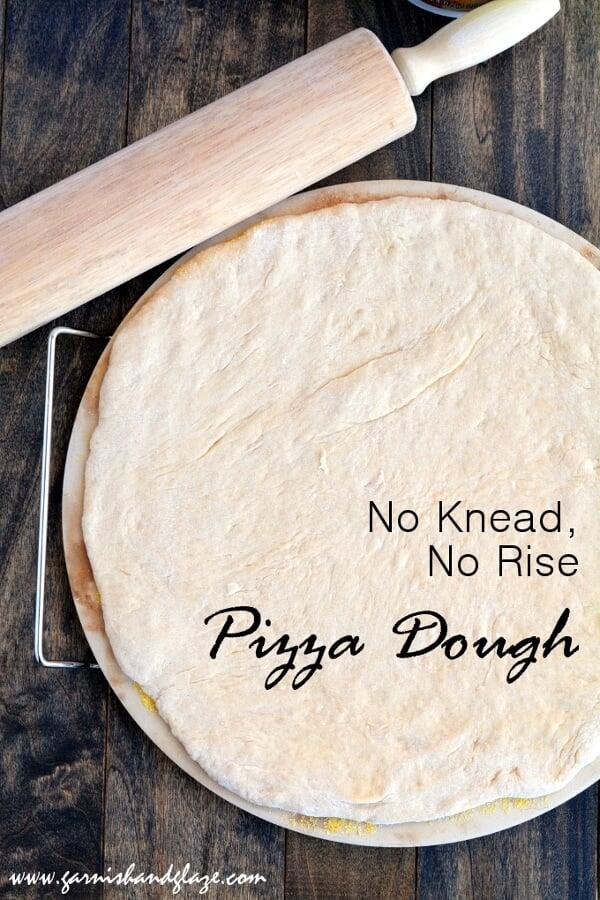 No Knead, No Rise Pizza Dough