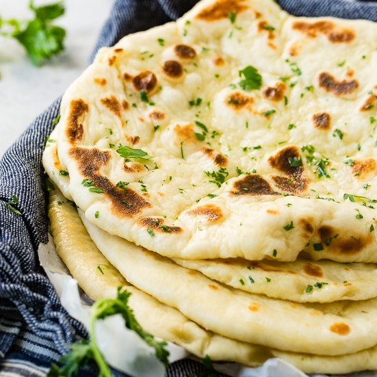 Easy Homemade Naan Recipe Oh Sweet Basil