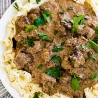 It's so easy to make dinner in an instant pot, but what recipes are good in an instant pot? This instant pot beef stroganoff is a classic! ohsweetbasil.com